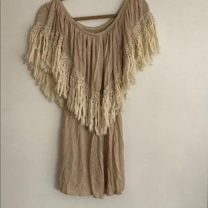 Fringe and lace trim tunic!! Perfect for festivals